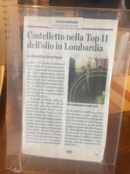 Castelletto nella Top 11 dell'olio in Lombardia