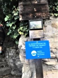 Segnaletica Sentiero del Gianino