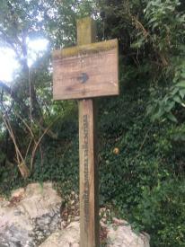 Segnaletica Sentiero delle Orchidee
