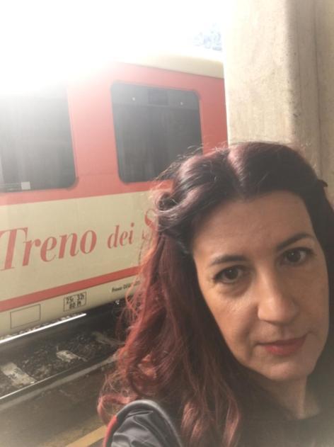 Raffi Garofalo prima di salire sul Treno dei Sapori