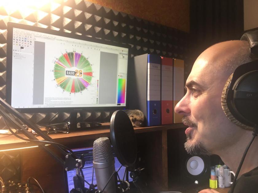 Alessandro Stefanoni durante la puntata di Bergamotto