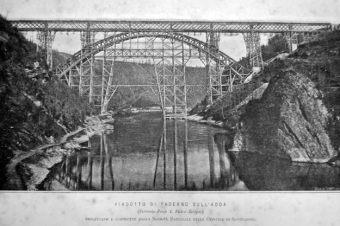 Foto della costruzione del Ponte San Michele
