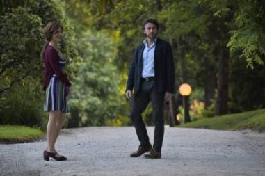 Alessio Boni gira Respiri nel parco di Villa Faccanoni