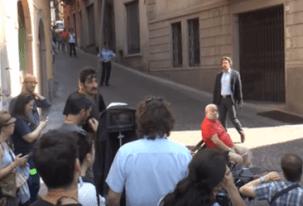 Alessio Boni gira a Lovere una scena del film Respiri