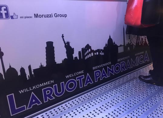 pannello biglietteria della ruota panoramica