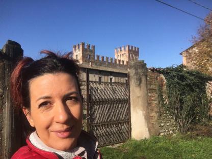 Selfie di Raffi Garofalo al Castello di Malpaga