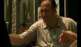 Acqua S.Pellegrino in una scena del telefilm Soprano's