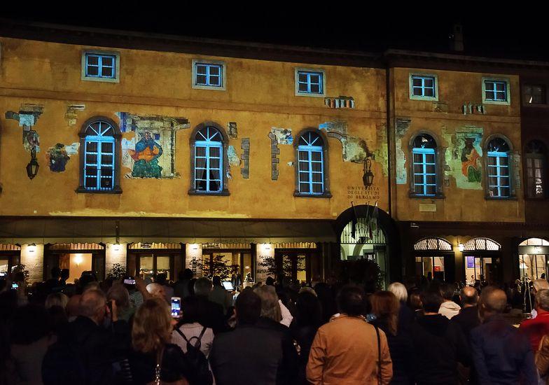 Casa Suardi come doveva essere con gli affreschi di Bramante