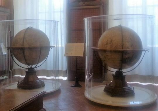 Globi del Coronelli alla Biblioteca Angelo Mai