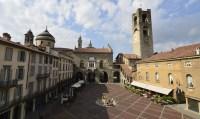 Piazza Vecchia dall'alto di fronte a Palazzo Vecchio
