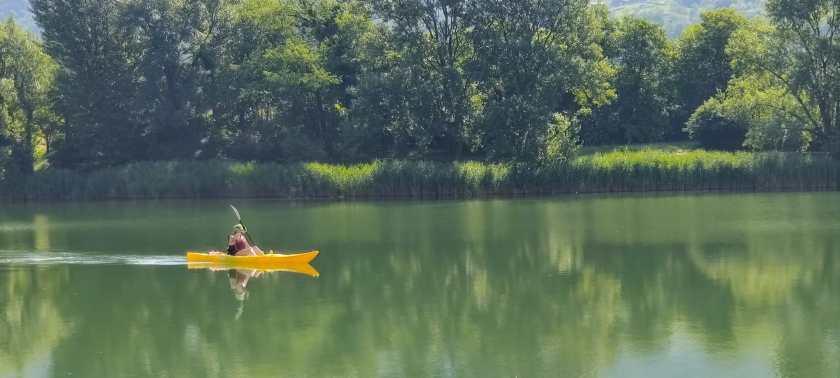 Canoa sul lago d'Endine
