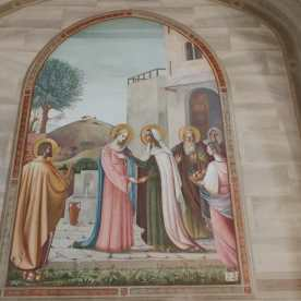 Affresco sulla vita di Maria a Mapello