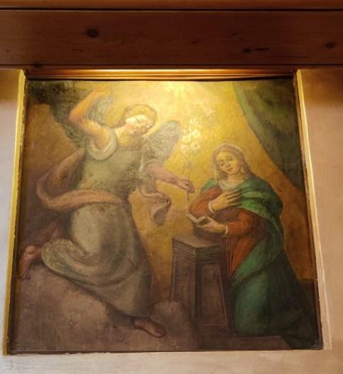 Affresco del 1500 Antica Osteria Il Forno di Brembilla