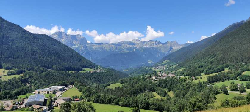 il panorama magnifico della Presolana dalla Panchina di Schilpario