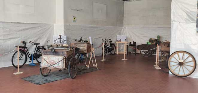 1 collezione biciclette storiche esposte in occasione del centenario della gelateria leffese