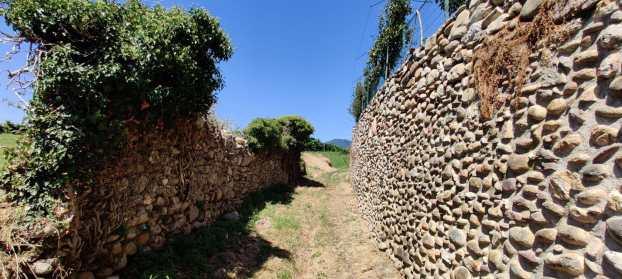 Muretti di borlanti di fiume sulla Collina Umbriana