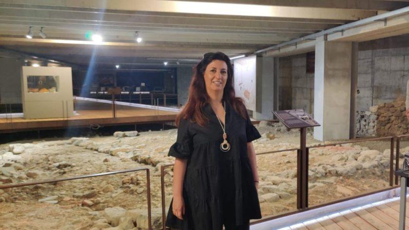 Raffi Garofalo in visita all'area archeologica Cavellas