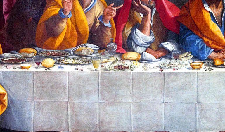 Pasto di magro nell'Ultima Cena di Alessandro Allori