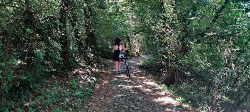 A Rocca Martinengo in bicicletta