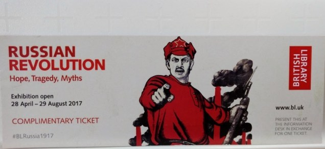 Complimentary ticket to the exhibition: Russian Revolution: Hope, Tragedy, Myths