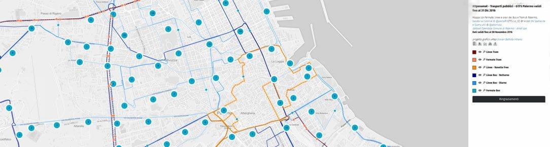 Mappa con fermate, linee e orari dei Bus e Tram - Amat