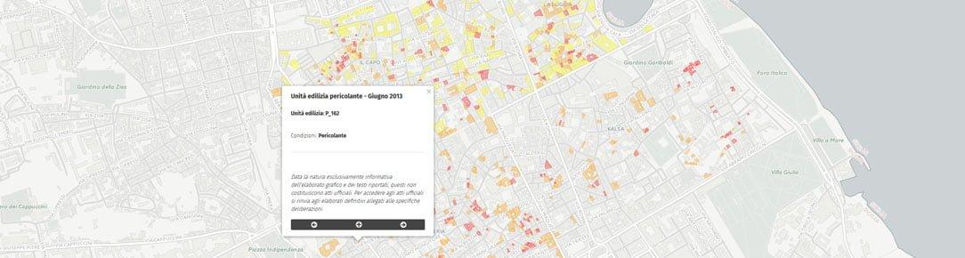 Mappa Edilizia degrdata - Centro Storico Palermo