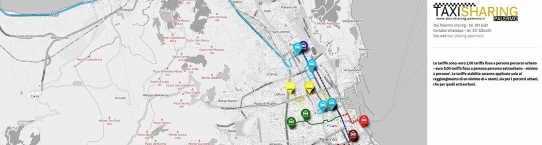 Mappa Taxi sharing Palermo