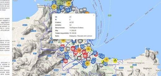 Palermo - Mappa Piano Comunale Protezione Civile