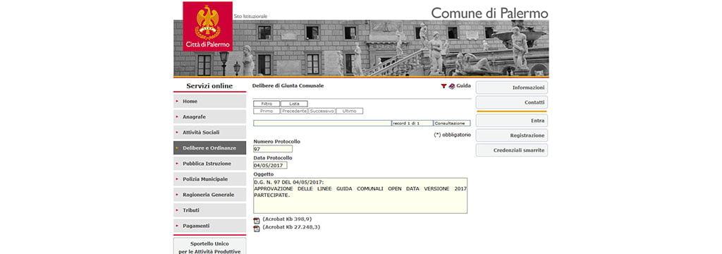 linee guida #opendata Palermo