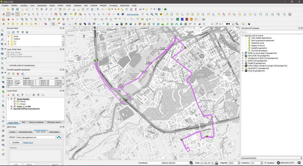 qgis conversione pdf in shp vector bender