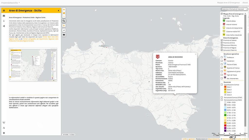 Aree di Emergenza - Protezione Civile - Regione Sicilia