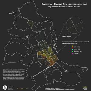 Popolazione straniera residente Palermo 2018 - Continenti