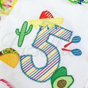 Sombrero applique numbers, Fiesta, Taco, Cinco de Mayo, Birthday, Party, Birthday numbers, Applique numbers, Blanket stitch numbers, Name frame, Font frame, Vintage bow, Monogram, Vintage stitch embroidery design, Applique, Machine embroidery design, Blanket stitch, Beanstitch, Vintage, Classic