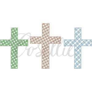 Crosses fill embroidery design, Vintage Easter, Easter cross, Jesus, Easter applique, Easter, Spring, Easter, Vintage stitch embroidery design, Applique, Machine embroidery design, Blanket stitch, Beanstitch, Vintage