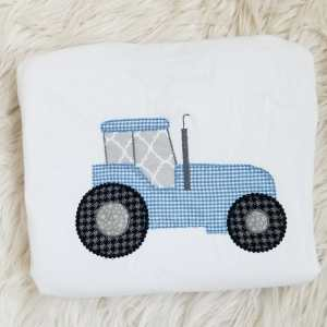 Tractor embroidery design, Farming embroidery design, Farm equipment, Tractor, Harvester, Vintage stitch embroidery design, Applique, Machine embroidery design, Blanket stitch, Beanstitch, Vintage
