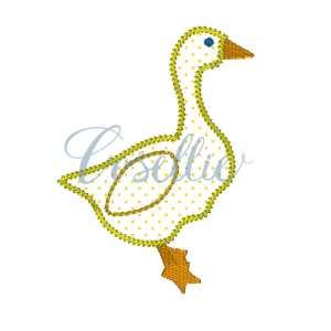 Goose embroidery design, Goose, Duck, Gender neutral, Easter, Spring embroidery design, Vintage stitch embroidery design, Applique, Machine embroidery design, Blanket stitch, Beanstitch, Vintage