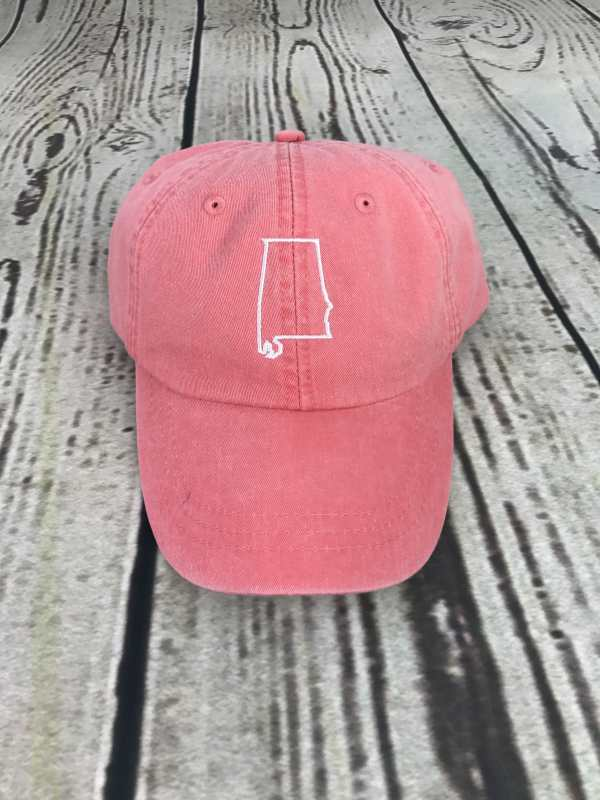 Alabama baseball cap, Alabama baseball hat, Alabama hat, Alabama cap, State of Alabama, Personalized cap, Custom baseball cap