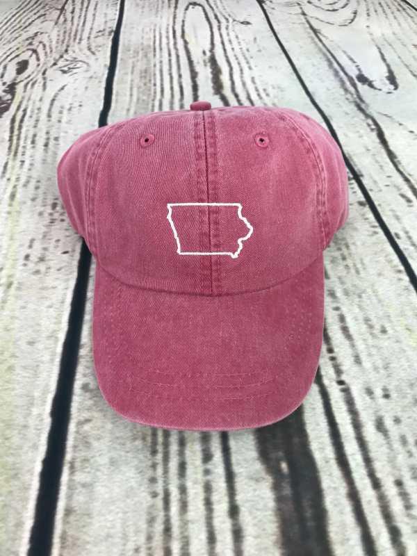 Iowa baseball cap, Iowa baseball hat, Iowa hat, Iowa cap, State of Iowa, Personalized cap, Custom baseball cap