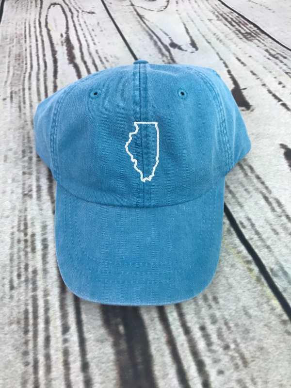Illinois baseball cap, Illinois baseball hat, Illinois hat, Illinois cap, State of Illinois, Personalized cap, Custom baseball cap