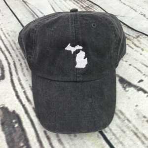 Michigan baseball cap, Michigan baseball hat, Michigan hat, Michigan cap, State of Michigan, Personalized cap, Custom baseball cap