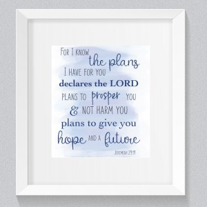 Jeremiah 29:11 Watercolor Bible Verse Blue, Jeremiah 29 11, Bible verse art, Watercolor bible verse art, Nursery bible verse art, Blue bible verse, Baby boy, Print from home cards, DIY cards