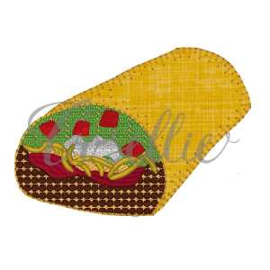 Burrito embroidery design, Burrito, Mexican embroidery design, Cinco de Mayo, Fiesta, Mexico, Party, Vintage stitch embroidery design, Applique, Machine embroidery design, Blanket stitch, Beanstitch, Vintage
