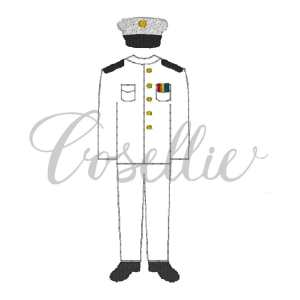 Navy uniform embroidery design, Navy embroidery design, US Navy, USA, US Military, Vintage stitch embroidery design, Applique, Machine embroidery design, Blanket stitch, Beanstitch, Vintage