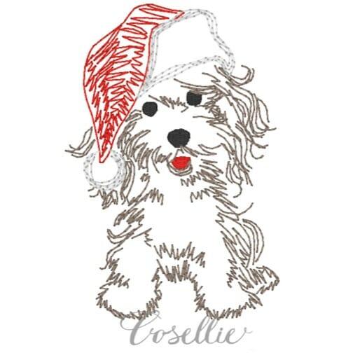 bbd713cdfae58 Santa puppy embroidery design