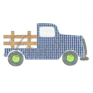 Vintage truck embroidery design, Truck embroidery design, Blue truck, Farm, Farm truck, Vintage stitch embroidery design, Applique, Machine embroidery design, Blanket stitch, Beanstitch, Vintage