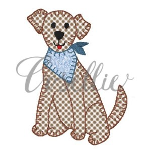 Bandana dog boy embroidery design, Bandana dog, Bandana puppy, Dog, Puppy, Vintage stitch embroidery design, Applique, Machine embroidery design, Blanket stitch, Beanstitch, Vintage