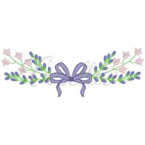 Tulips and lavender bow embroidery design, Floral frame, Bow embroidery design, Tulips, Lavender, Name frame, Font frame, Name outline, Girly bow, Girl, Applique bow, Vintage bow, Monogram, Vintage stitch embroidery design, Applique, Machine embroidery design, Blanket stitch, Beanstitch, Vintage