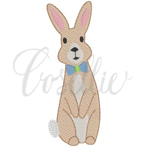 Bowtie bunny fill embroidery design, Bunny, Rabbit, Spring, Easter bunny, Easter rabbit, Bunny bowtie, Bowtie, Vintage bunny, Birthday party, First birthday, Vintage stitch embroidery design, Applique, Machine embroidery design, Blanket stitch, Beanstitch, Vintage, Classic