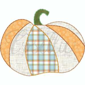 Flat pumpkin applique embroidery design, Pumpkin applique, Fall pumpkin, Fall design, Quick stitch pumpkin, Halloween, Vintage Thanksgiving, Vintage stitch embroidery design, Applique, Machine embroidery design, Blanket stitch, Beanstitch, Vintage, Classic