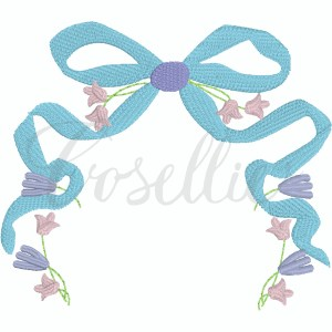 Flowy floral bow embroidery design, Floral frame, Bow embroidery design, Vintage bow, Sketch bow, Name frame, Font frame, Name outline, Girly bow, Girl, Applique bow, Vintage bow, Monogram, Vintage stitch embroidery design, Applique, Machine embroidery design, Blanket stitch, Beanstitch, Vintage